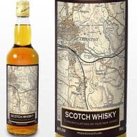 Personalised 1896 - 1904 Revised New Map Whisky - ideal gift for father's day, birthday, wedding, house warming or any other celebration